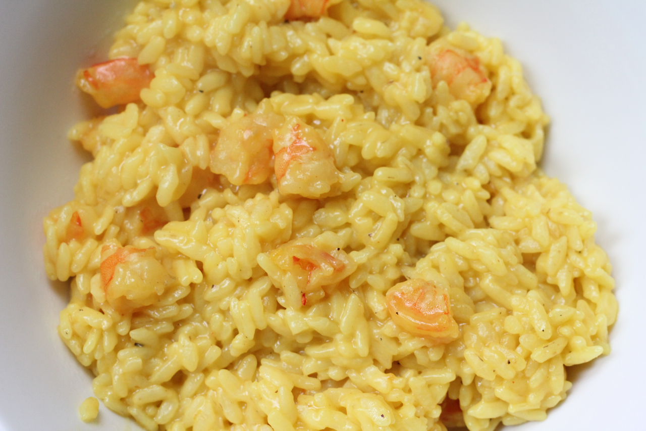 Saffron risotto with shrimps | The Italian Fork