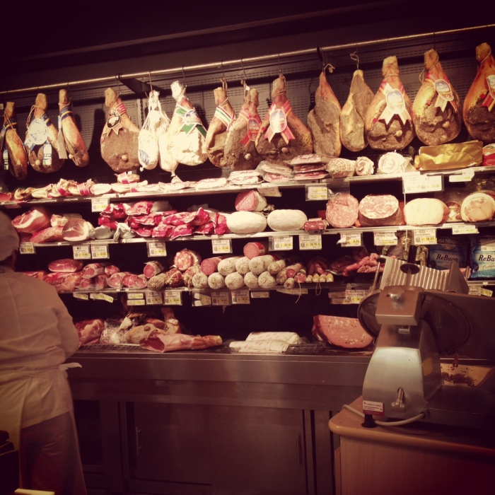 A well-stocked macelleria